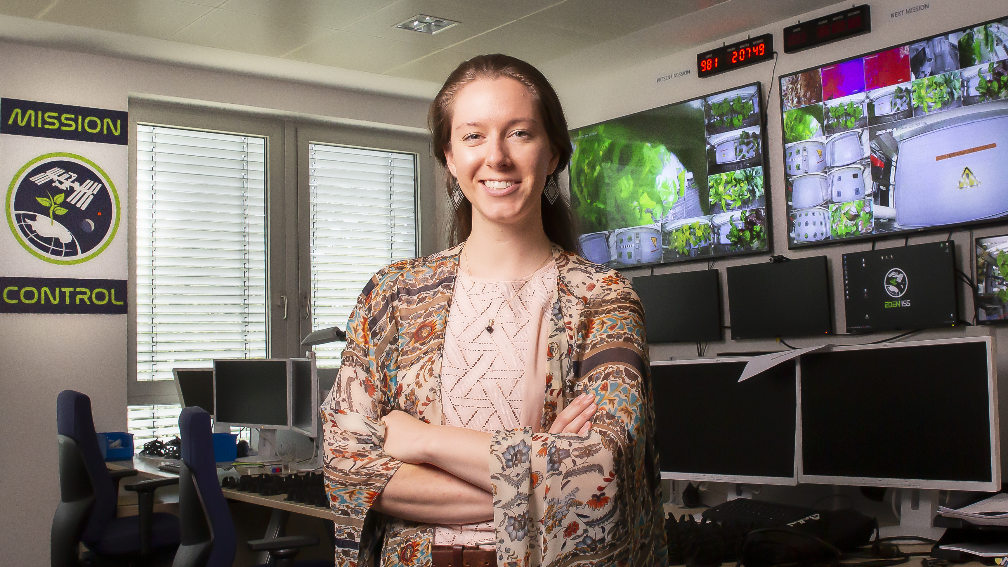 Jess Marie Bunchek - NASA Plant Scientist, Credit Andreas Caspari