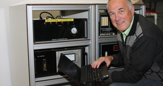 Tom Dueck at work on a control unit